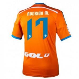 Camiseta del Rodrigo Valencia Segunda Equipacion 2014/2015