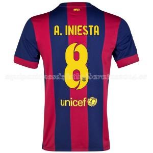 Camiseta nueva del Barcelona 2014/2015 A.Iniesta Primera