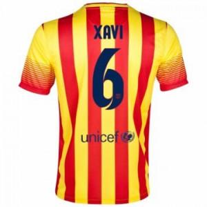 Camiseta Barcelona Xavi Segunda Equipacion 2013/2014