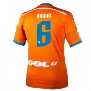 Camiseta del Lucas Orban Valencia Segunda Equipacion 2014/2015