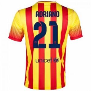 Camiseta nueva del Barcelona 2013/2014 Equipacion Adriano Segunda