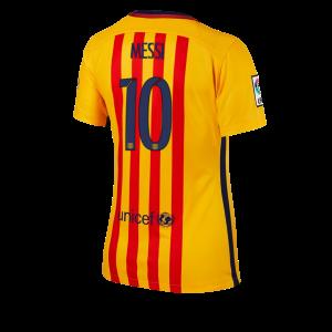 Mujer Camiseta del Numero 10 Barcelona Segunda Equipacion 2015/2016