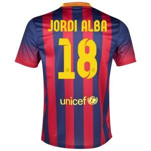 Camiseta nueva Barcelona Jordi Alba Primera 2013/2014