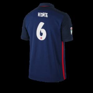 Camiseta de Atletico Madrid 2015/2016 Segunda KOKE Equipacion