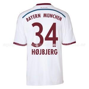 Camiseta Bayern Munich Hojbjerg Segunda Equipacion 2014/2015