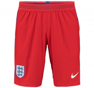Shorts Inglaterra Lejos (Rojo) 2016-2017