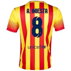 Camiseta del A.Iniesta Barcelona Segunda 2013/2014