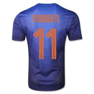 Camiseta de Holanda de la Seleccion WC2014 Segunda Robben