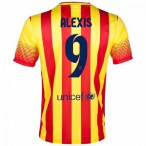 Camiseta nueva del Barcelona 2013/2014 Equipacion Alexis Segunda
