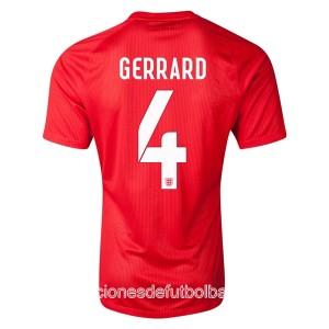 Camiseta de Inglaterra de la Seleccion WC2014 Segunda Gerrard