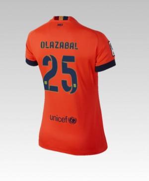 Camiseta nueva Barcelona Bartra Segunda 2014/2015