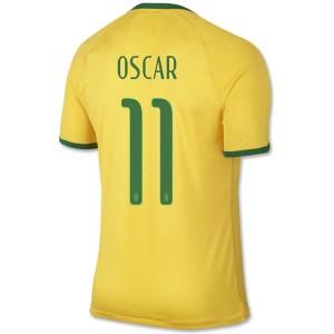 Camiseta nueva del Brasil de la Seleccion WC2014 Oscar Primera