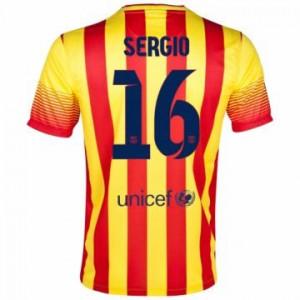 Camiseta nueva del Barcelona 2013/2014 Equipacion Sergio Segunda
