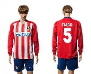 Camiseta del 5# Atletico Madrid Primera Manga Larga 15/16