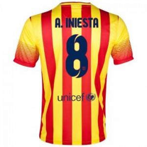 Camiseta de Barcelona 2013/2014 Segunda A.iniesta Equipacion