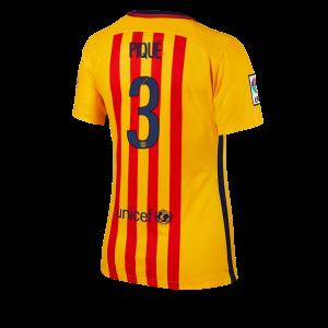 Mujer Camiseta del Numero 03 Barcelona Segunda Equipacion 2015/2016