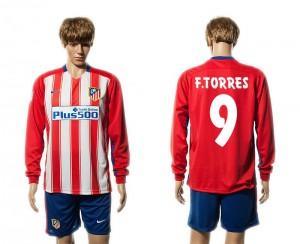 Camiseta nueva del Atletico Madrid 15/16 Manga Larga 9# Primera