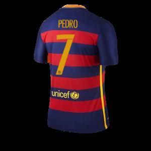 Camiseta del Numero 07 PEDRO Barcelona Primera Equipacion 2015/2016
