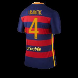Camiseta Barcelona Numero 04 RAKITI Primera Equipacion 2015/2016