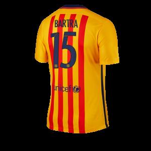 Camiseta Barcelona Numero 15 BARTRA Segunda Equipacion 2015/2016