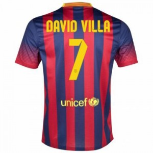 Camiseta del David Villa Barcelona Primera Equipacion 2013/2014