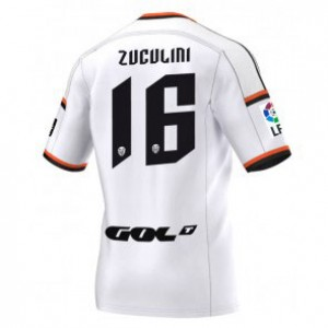 Camiseta de Valencia 2014/2015 Primera Bruno Zuculini Equipacion