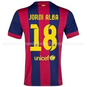 Camiseta Barcelona Jordi Alba Primera 2014/2015