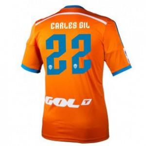 Camiseta Valencia Carles Gil Segunda Equipacion 2014/2015