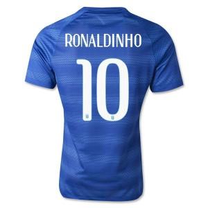Camiseta nueva Brasil de la Seleccion Ronaldinho Segunda WC2014