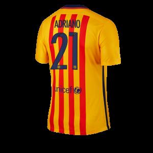 Camiseta nueva del Barcelona 2015/2016 Equipacion Numero 21 ADRIAN Segunda