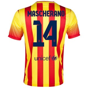 Camiseta nueva del Barcelona 2013/2014 Mascherano Segunda