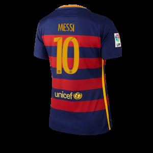 Camiseta Barcelona Numero 10 Primera Equipacion 2015/2016 Mujer