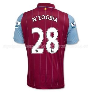 Camiseta Aston Villa N_Zogbia Primera Equipacion 2014/15