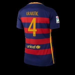 Camiseta de Barcelona 2015/2016 Primera Numero 04 Equipacion Mujer