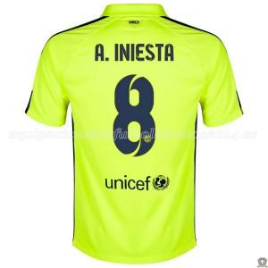 Camiseta de Barcelona 2014/2015 Tercera A.Iniesta