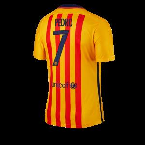 Camiseta de Barcelona 2015/2016 Segunda Numero 07 PEDRO Equipacion