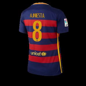 Camiseta nueva del Barcelona 2015/2016 Equipacion Numero 08 Mujer Primera