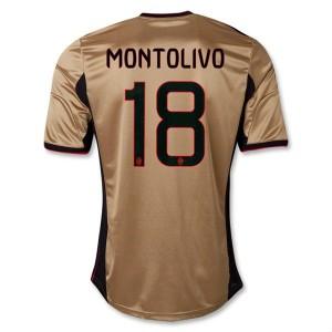 Camiseta nueva AC Milan Montolivo Equipacion Tercera 2013/2014