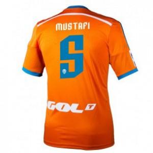 Camiseta del Shkodran Mustafi Valencia Segunda Equipacion 2014/2015