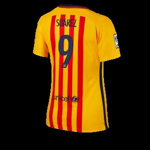 Camiseta Barcelona Numero 09 Segunda Equipacion 2015/2016 Mujer