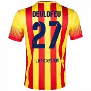 Camiseta de Barcelona 2013/2014 Segunda Deulofeu Equipacion