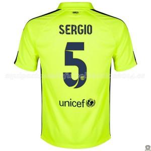 Camiseta Barcelona Sergio Tercera 2014/2015