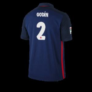 Camiseta nueva Atletico Madrid GODIN Equipacion Segunda 2015/2016