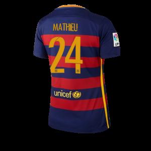 Camiseta de Barcelona 2015/2016 Primera Numero 24 Equipacion Mujer