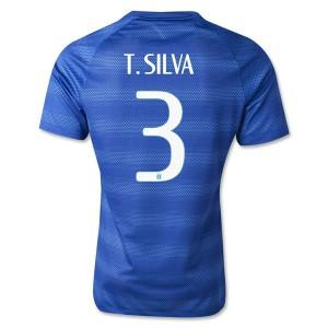 Camiseta Brasil de la Seleccion T.Silva Segunda WC2014