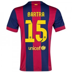 Camiseta nueva del Barcelona 2014/2015 Equipacion BARTRA Primera
