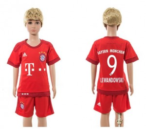 Camiseta nueva del Bayern Munich 2015/2016 9 Ni?os Home