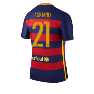 Camiseta del Numero 21 ADRIAN Barcelona Primera Equipacion 2015/2016