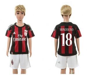 Camiseta nueva del AC Milan 2015/2016 18 Ni?os