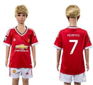 Camiseta nueva del Manchester United 2015/2016 7 Ni?os